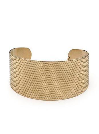 Pastiche Womens Steel 35mm Gold Cuf Bangle