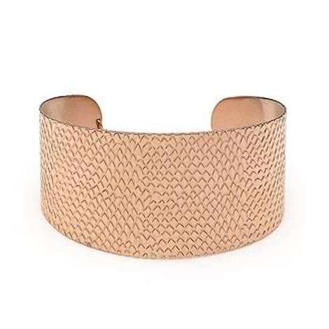 PASTICHE WOMENS STEEL 35mm ROSE CUFF BANGLE