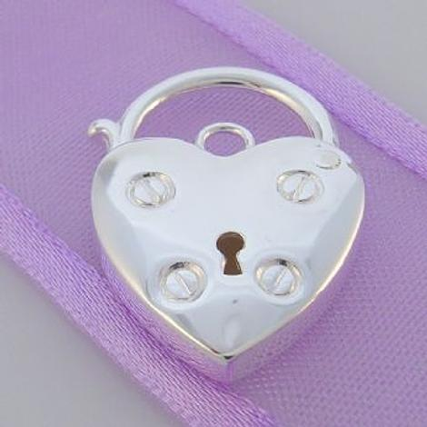 21.5mm x 31.5mm STERLING SILVER ENGLISH STYLE PADLOCK -FINDING_PK5