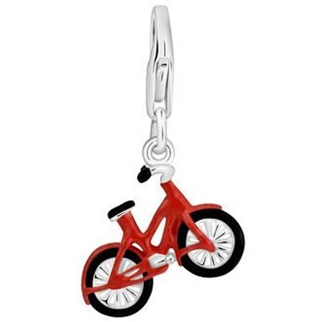 PASTICHE STERLING SILVER RED BIKE BICYCLE HOOKED ON CLIP CHARM PENDANT QC220RD