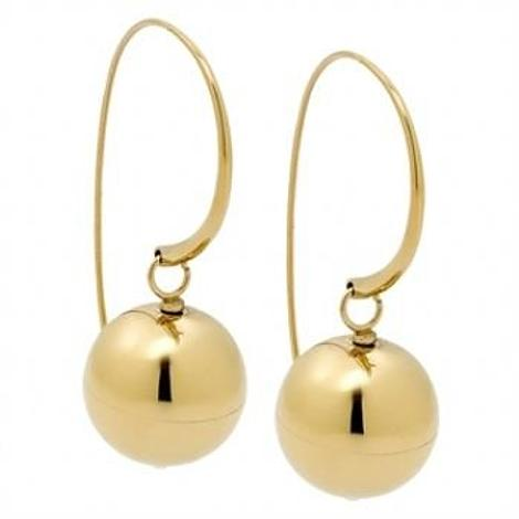 PASTICHE WOMENS YELLOW GOLD STEEL BALL DROP EARRINGS