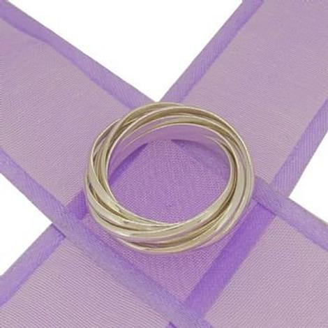 STERLING SILVER 9 BAND RUSSIAN WEDDING RING -925-54-706-88021