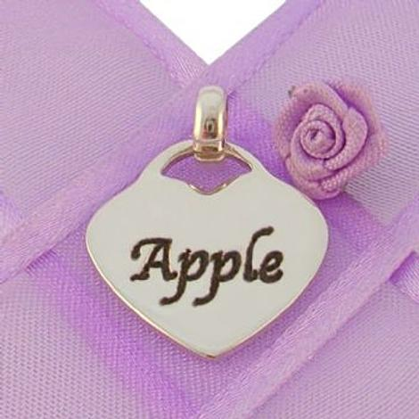 19mm PERSONALISED HEART NAME PENDANT -19mmH