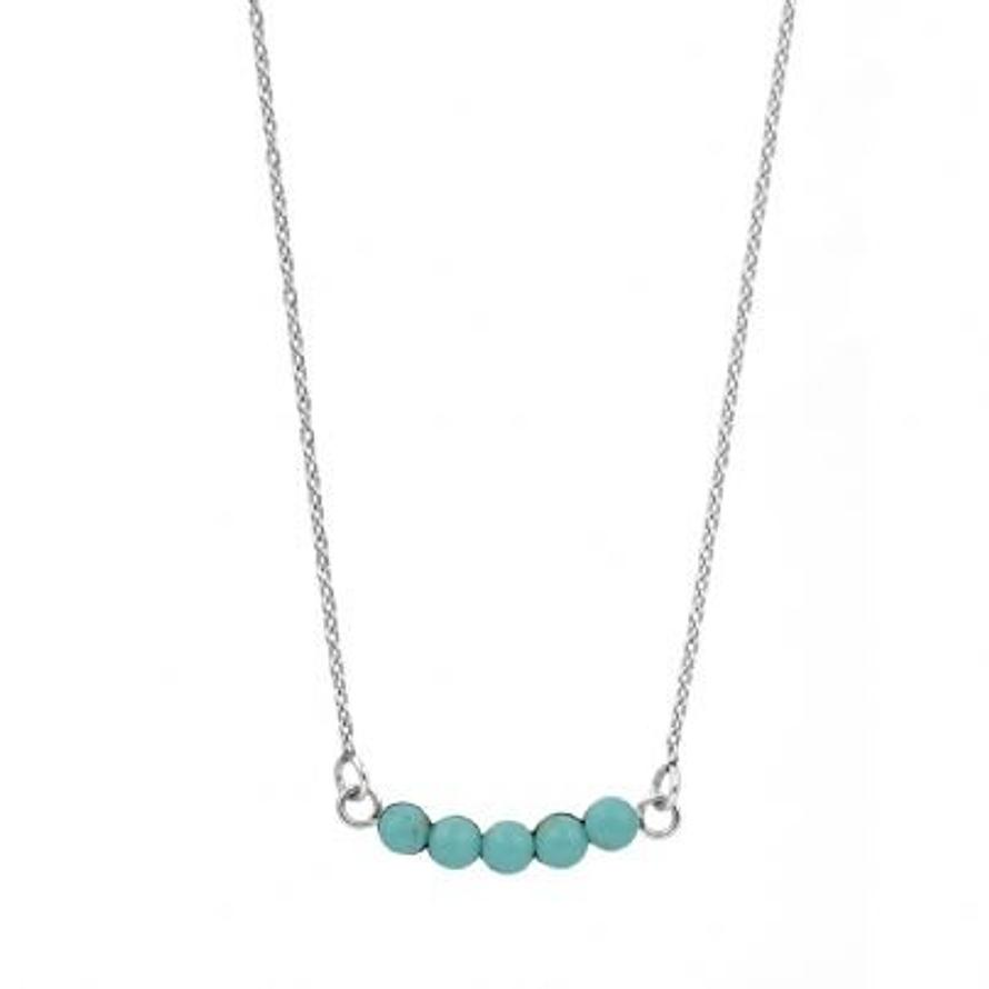 Pastiche Believe Silver Necklace with Turquoise