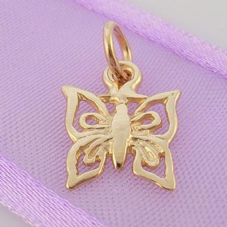 9CT GOLD 11mm BUTTERFLY CHARM