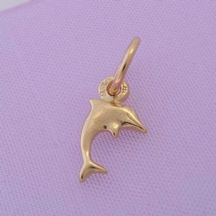 9CT GOLD SMALL BABY DOLPHIN CHARM