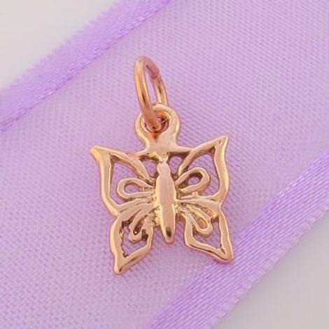 9CT ROSE GOLD 11mm BUTTERFLY CHARM