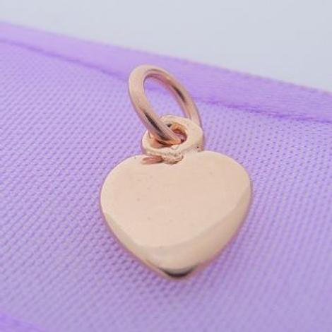 9CT ROSE GOLD 8mm LOVE HEART CHARM