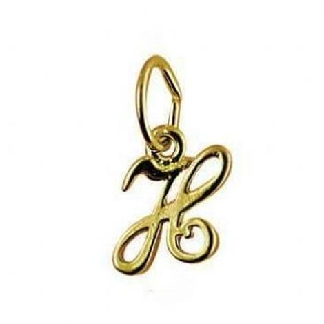 9CT SMALL ALPHABET INITIAL LETTER H CHARM -9ct_HR1659H