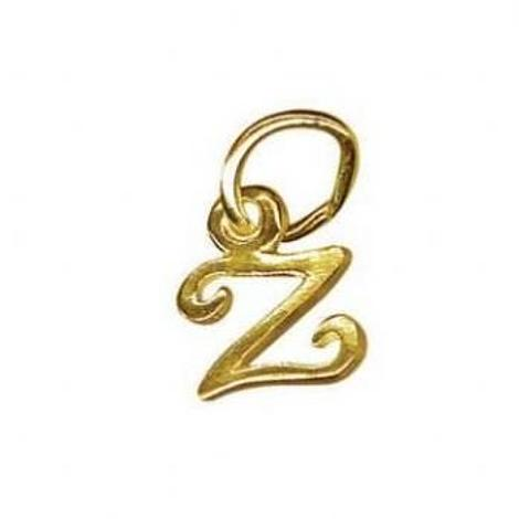 9CT SMALL ALPHABET INITIAL LETTER Z CHARM -9ct_HR1659Z