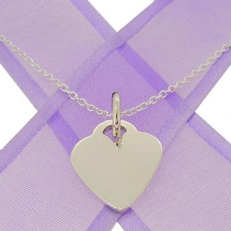 16mm PERSONALISED HEART NAME PENDANT NECKLACE