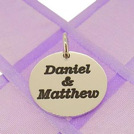 19mm ROUND PERSONALISED NAME MESSAGE COIN PENDANT -19mm-SS