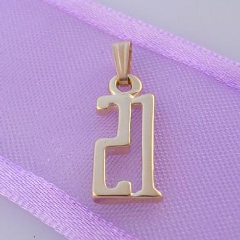 TWENTY ONE 21 21st BIRTHDAY NUMBER 9CT GOLD CHARM PENDANT -9Y_HR1042