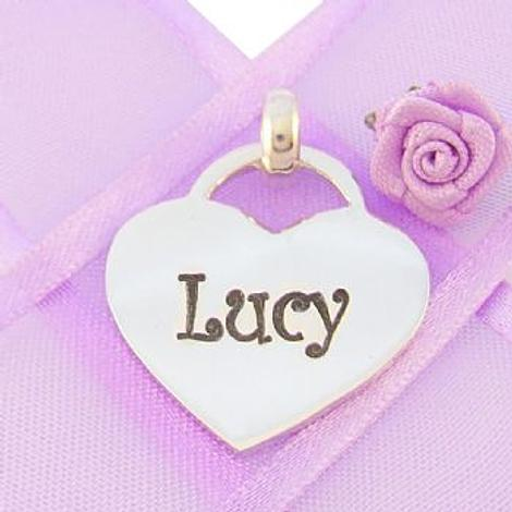 22mm PERSONALISED HEART NAME PENDANT -22mmH