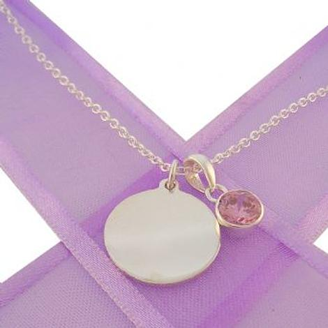 PERSONALISED CIRCLE BIRTHSTONE NECKLACE