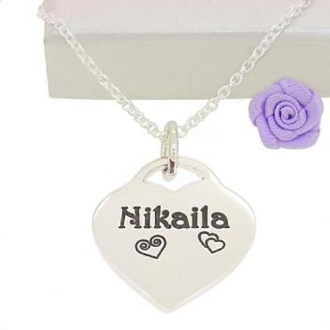 19mm PERSONALISED HEART NAME PENDANT -19mmH-ca40