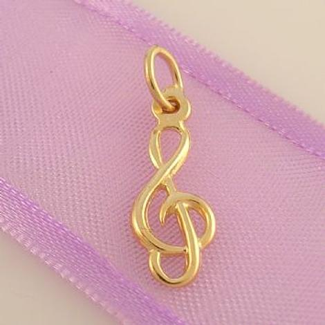9CT GOLD 7mm x 17mm TREBLE NOTE MUSIC CHARM