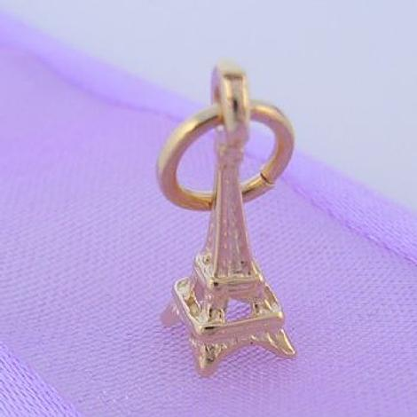 9CT GOLD 5mm X 13mm PARIS EIFFEL TOWER CHARM