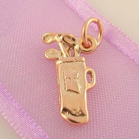 9CT ROSE GOLD GOLF BAG AND CLUBS CHARM -9R_HR2443