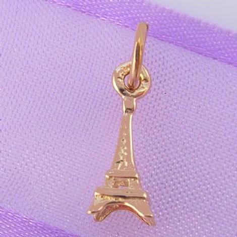 9CT ROSE GOLD SMALL 5mm X 13mm PARIS EIFFEL TOWER CHARM 9R_HR993