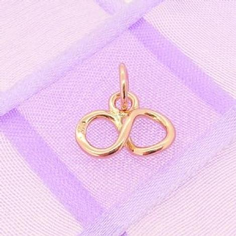 9CT ROSE GOLD 12mm INFINITY SYMBOL DESIGN CHARM