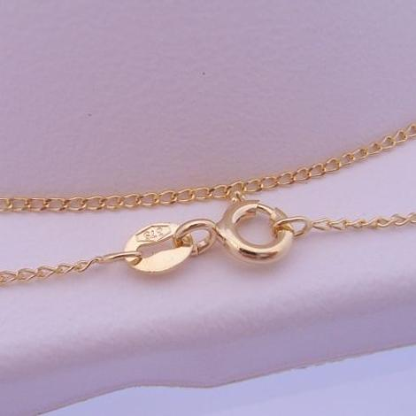 1g 9CT YELLOW GOLD 1mm FINE CURB NECKLACE CHAIN 45cm