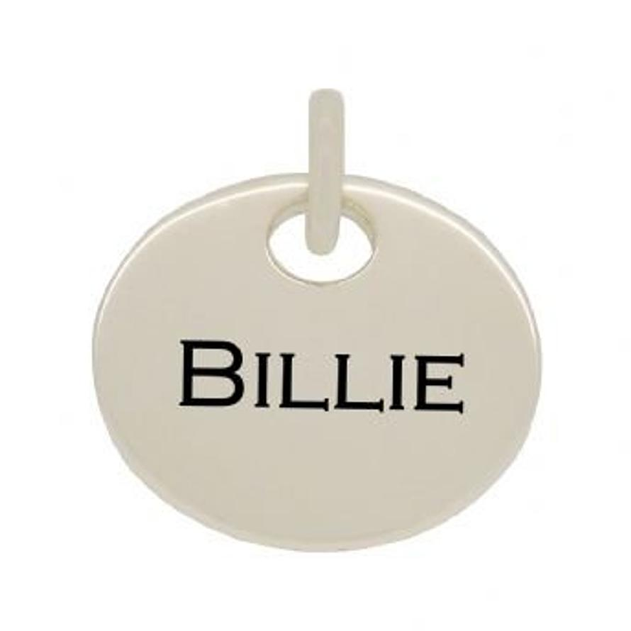 20mm ROUND PERSONALISED NAME MESSAGE TABLET COIN PENDANT