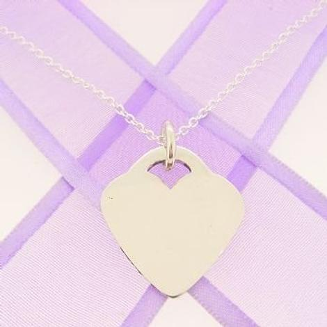 22mm PERSONALISED HEART NAME PENDANT -22mm x 24mm H-SS-ca40