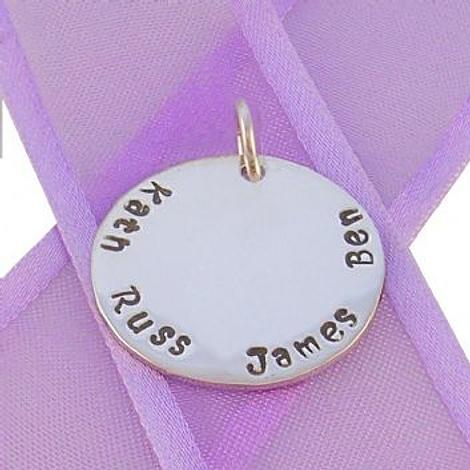 23mm ROUND PERSONALISED NAME PENDANT -23mm-SS
