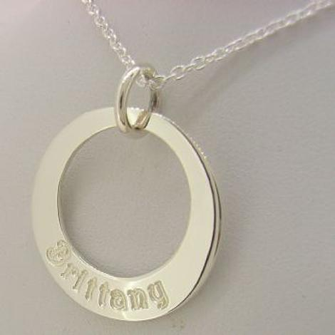 25mm CIRCLE OF LIFE PERSONALISED FAMILY NAME PENDANT NECKLACE -25mm-CA40-SS