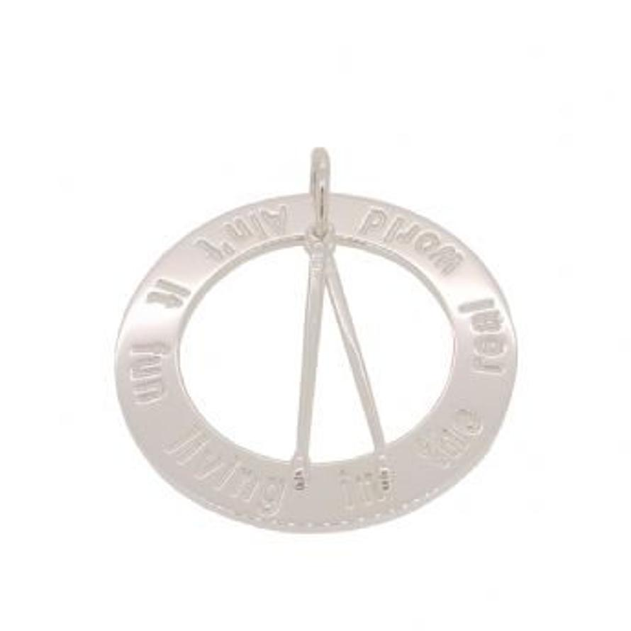 25mm CIRCLE OF LIFE DRUMSTICKS PERSONALISED PENDANT NECKLACE