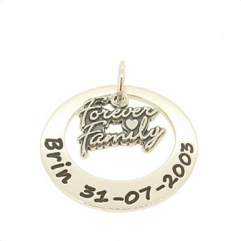 27mm Circle Of Life Family Forever Personalised Name Pendant The