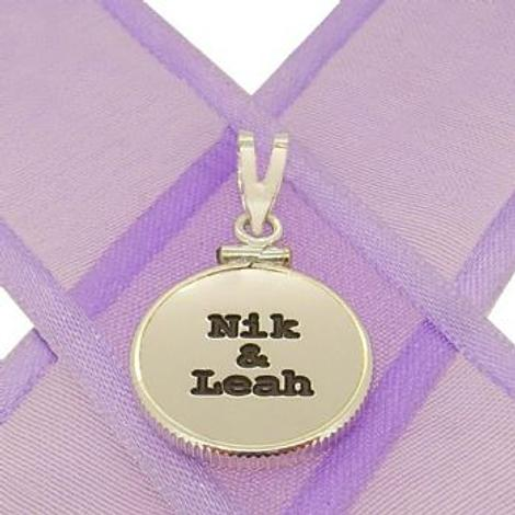 16mm COIN FRAME PERSONALISED NAME PENDANT -16mm-CF-SS