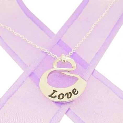 19mm SMALL OVAL MOBIUS INFINITY PERSONALISED NAME PENDANT NECKLACE