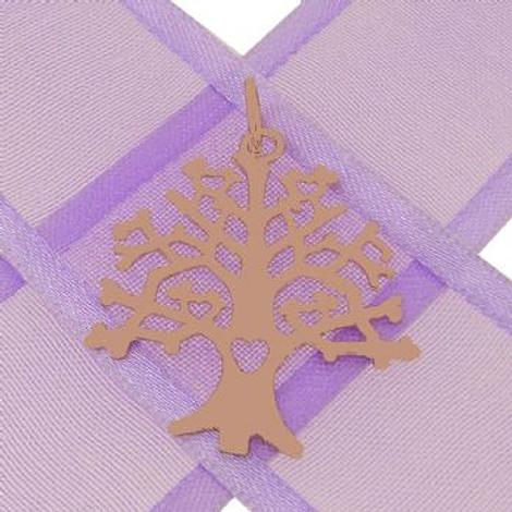 SOLID 9CT ROSE GOLD 24mm x 27mm TREE OF LIFE CHARM PENDANT - 9R_HRKB85