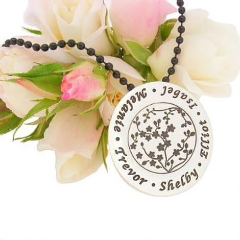 29mm BLOSSOM PERSONALISED MESSAGE NAME FAMILY COIN PENDANT
