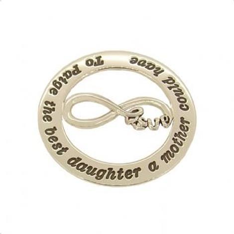 35mm CIRCLE OF LIFE PERSONALISED INFINITE LOVE CHARM NAME PENDANT