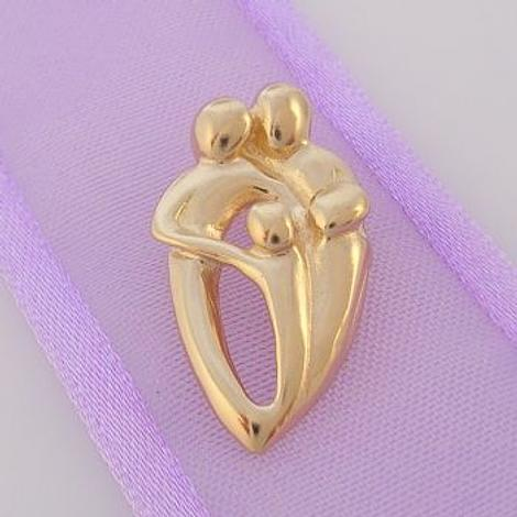 9CT GOLD FAMILY OF FOUR CHARM PENDANT