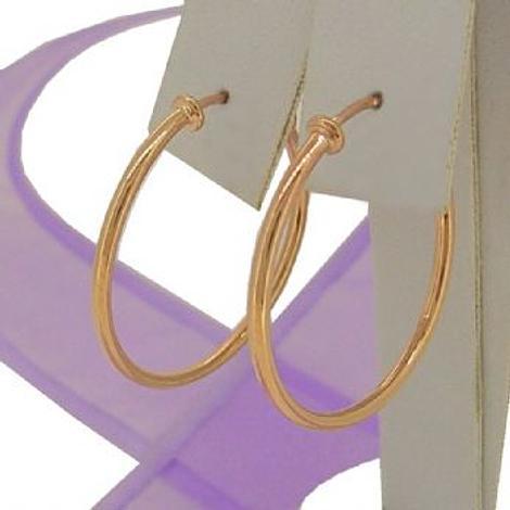 9CT ROSE GOLD 1.5mm GYPSEY HOOP EARRINGS