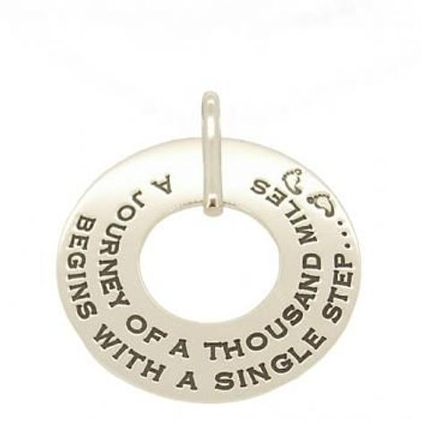 35mm UNISEX PERSONALISED FAMILY CIRCLE of LIFE NAME MESSAGE PENDANT