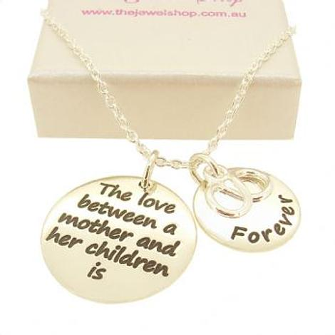 16mm and 22mm Mothers Love MESSAGE COINS INFINITY INFINITE LOVE CHARM PENDANT NECKLACE