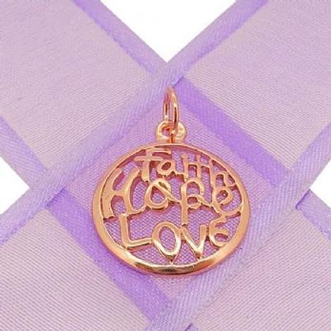 9CT ROSE GOLD FAITH HOPE LOVE CHARM PENDANT -9R_HRkb113
