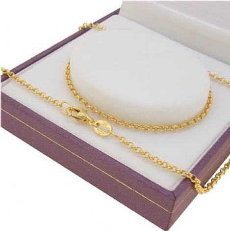 9CT YELLOW GOLD 1.8mm BELCHER NECKLACE CHAIN