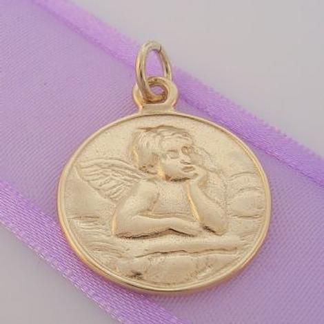 9CT GOLD GUARDIAN ANGEL PRAYER CLIP ON CHARM