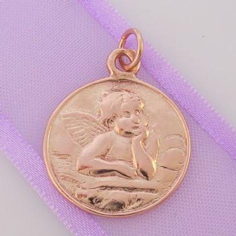 9CT ROSE GOLD GUARDIAN ANGEL PRAYER CLIP ON CHARM - 9R_HRKB49