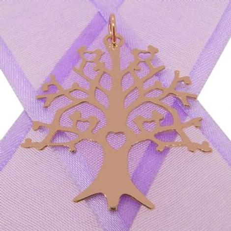 SOLID 9CT ROSE GOLD 32mm x 34mm TREE OF LIFE CHARM PENDANT - 9R_HRKB84