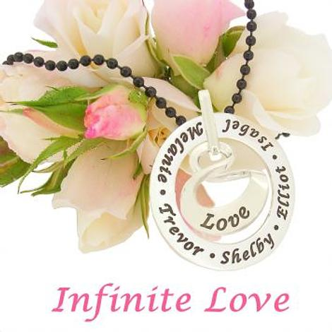 19mm INFINITY 37mm CIRCLE OF LIFE PERSONALISED NAME PENDANT
