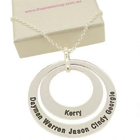 27mm & 38mm CIRCLE OF LIFE PERSONALISED LIFE NAME PENDANT NECKLACE