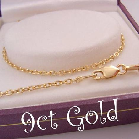 55CM NECKLACE CHAIN 9CT GOLD 1.6mm CABLE TRACE