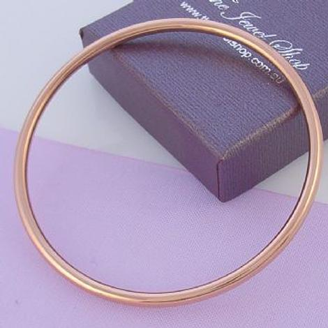 9CT ROSE GOLD 2.5mm BABY CHILD 48mm SIZE GOLF BANGLE